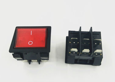 KCD 9 Coloured Rocker Switches 31 MM * 36 MM High Current 6 Pin 9 Pin