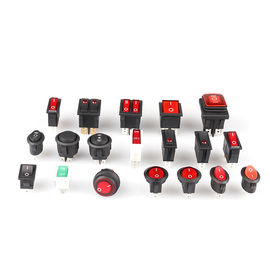 16A 120V Snap-in Round Miniatur AC Rocker Switches